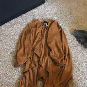 leather cardigan
